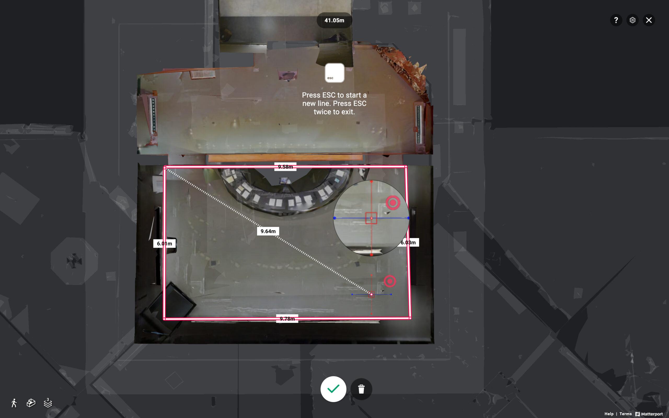 VR360 解決建築施工驗收,可精確量度空間長寬高