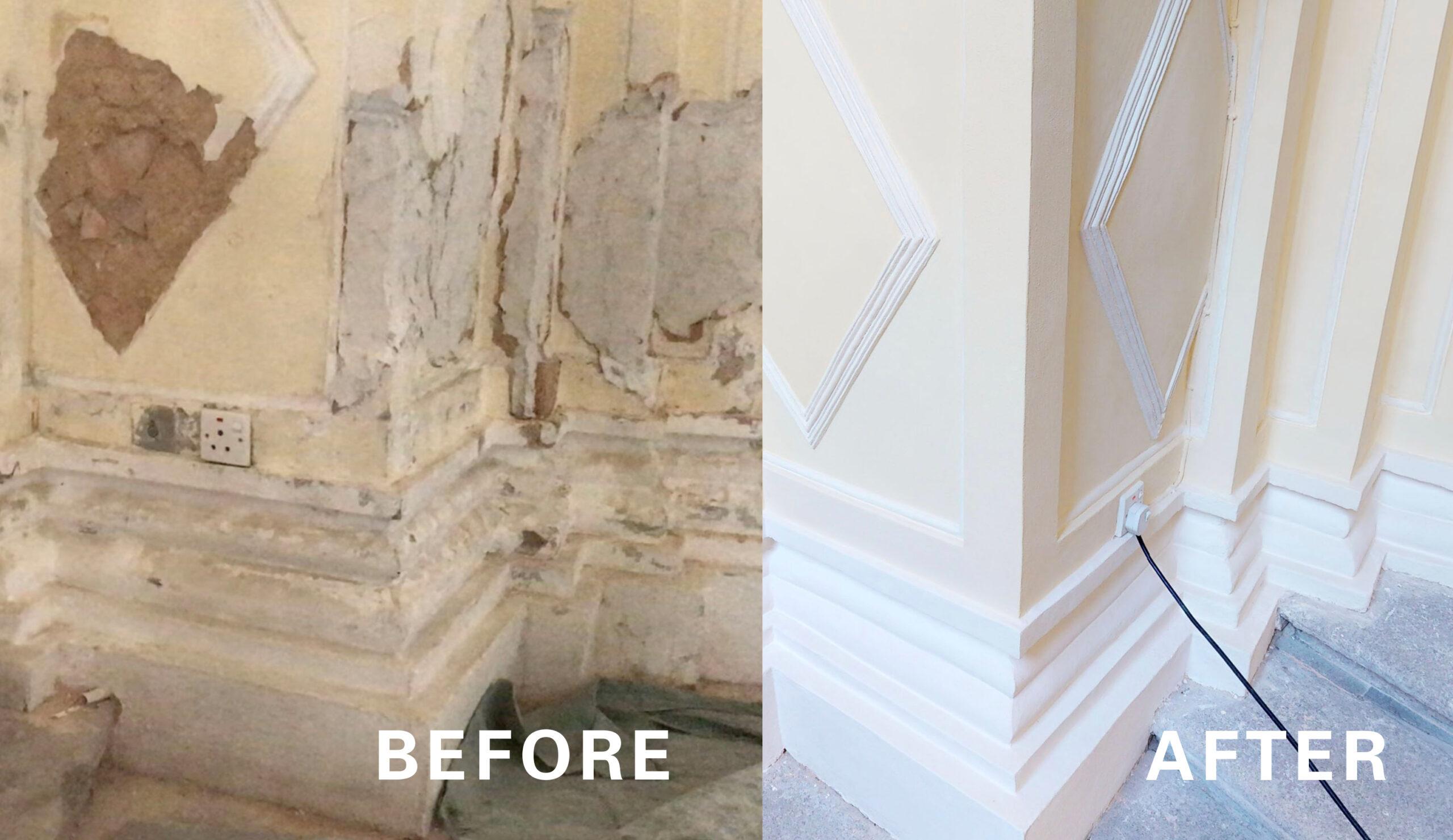 文物修復的前後對比,VR360 解決建築施工驗收